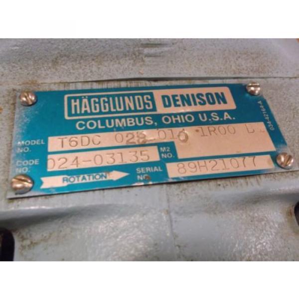 Parker  Denison hydraulic vane pump T6DC-028-010-1R00-B1 Hagglunds   014-97745-0 #2 image