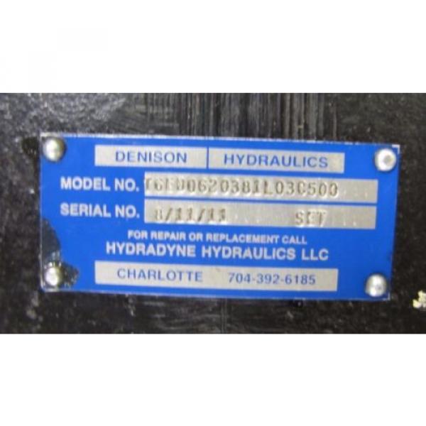 DENISON T6ED0620381L03C500 1 1/2#034; SHAFT HYDRAULIC PUMP #2 image