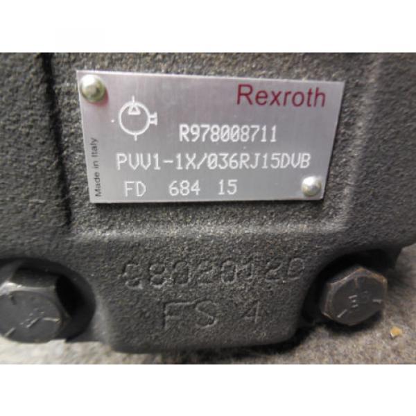 NEW Korea Australia BOSCH REXROTH VANE PUMP MODEL # PVV1-1X/036RJ15DVB # R978008711 #3 image