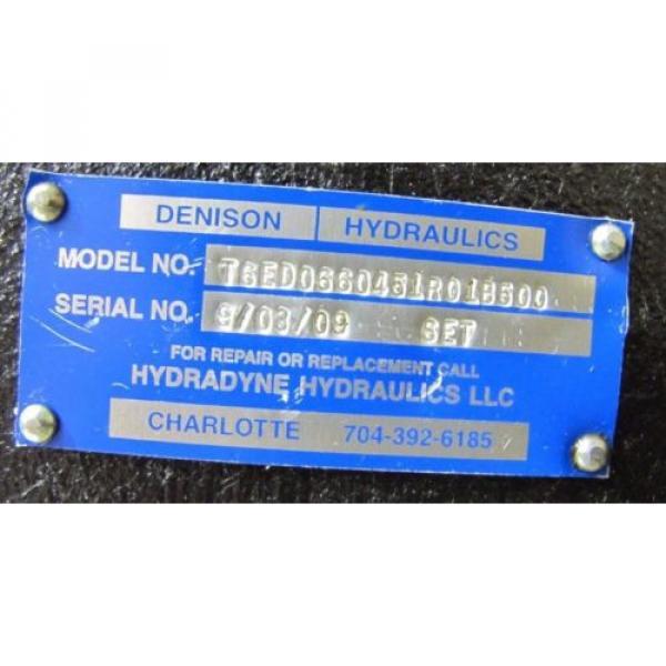 DENISON T6ED0660451R01B500 1 1/2#034; SHAFT 4#034; APPROX ID 4 BOLT PORT HYDRAULIC PUMP #2 image