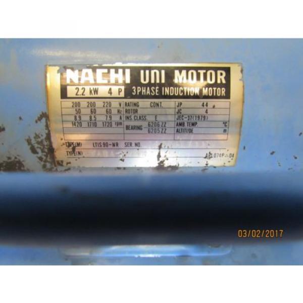 NACHI HYDRAULIC POWER UNIT VARIABLE VANE VDC-1B-2A3-HU-1688K/OG331000 MOTOR #3 image