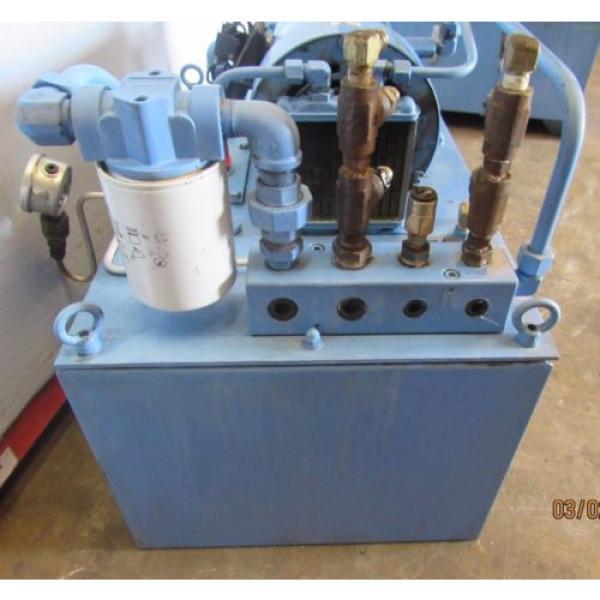 NACHI HYDRAULIC POWER UNIT VARIABLE VANE VDC-1B-2A3-HU-1688K/OG331000 MOTOR #4 image