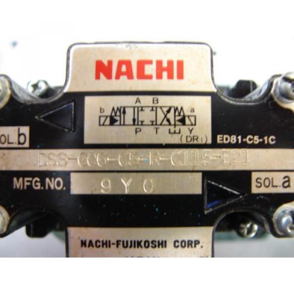 Nachi D08 4 Way hydraulic Solenoid Valve DSS-G06-C5-R-C115-E21 vickers parker #4 image