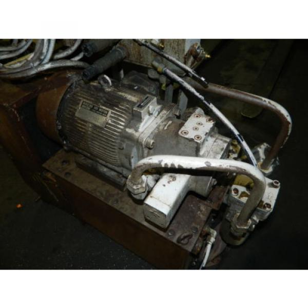 Showa / Nachi 3 HP Hydraulic Unit, PVU-40-0403-HX196 w/ UVD-2A-A2-22-4-1697A #5 image