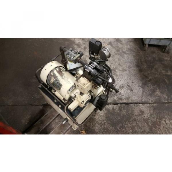 Nachi 3 HP Hydraulic Unit, Nachi Vane Pump # VDR-1B-1A3-U-1146K, OFF OKUMA LATHE #2 image