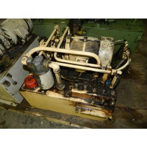 Nachi 3 HP Oil Hydraulic Unit, Nachi Variable Vane Pump VDR-11B-1A2-1A2-22, Used #1 image