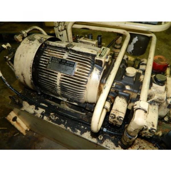 Nachi 3 HP Oil Hydraulic Unit, Nachi Variable Vane Pump VDR-11B-1A2-1A2-22, Used #5 image