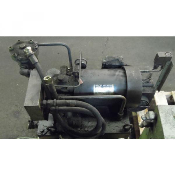 Showa 3 HP Hydraulic Unit, PVU-60-04-HX365, Used,  WARRANTY, Nachi Motor amp; Pump #3 image