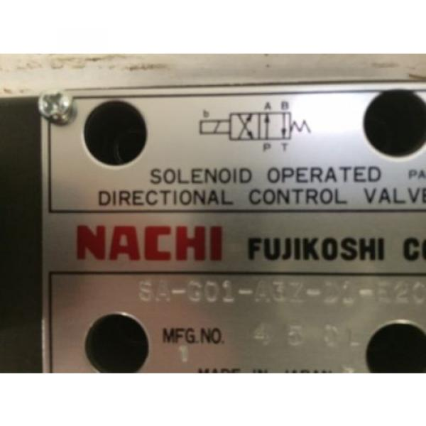 D03 4 Way 4/2 Hydraulic Solenoid  Nachi SA-GO1-A3Z-D1-E20 12 VDC #2 image