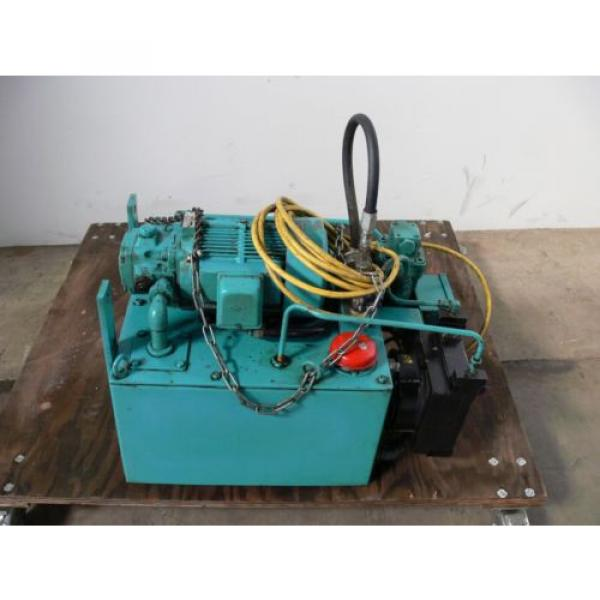 NACHI VDR-1B-1A3-B VARIABLE VANE HYDRAULIC amp; UNI PUMP  WITH TANK amp; OIL COOLER #2 image