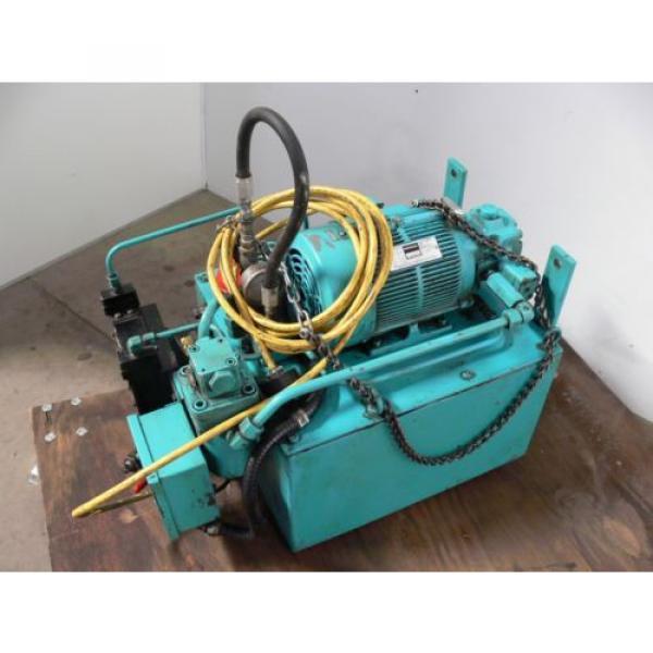 NACHI VDR-1B-1A3-B VARIABLE VANE HYDRAULIC amp; UNI PUMP  WITH TANK amp; OIL COOLER #4 image