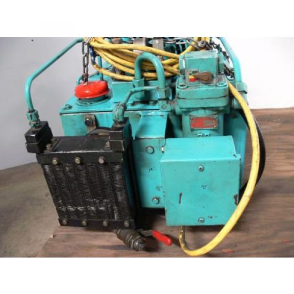 NACHI VDR-1B-1A3-B VARIABLE VANE HYDRAULIC amp; UNI PUMP  WITH TANK amp; OIL COOLER #5 image