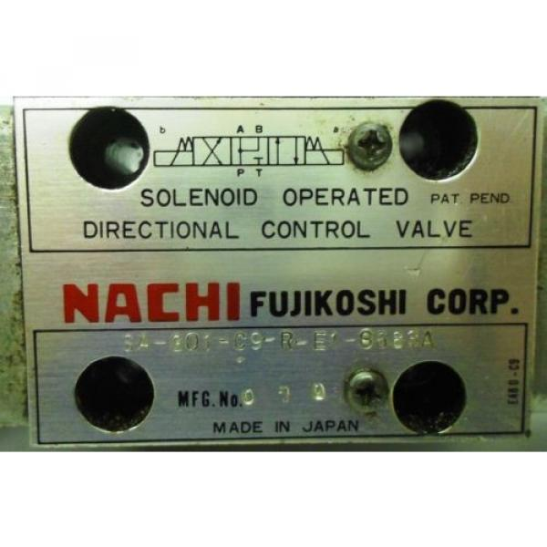 NACHI FUJIKOSHI SOLENOID OPERATED CONTROL HYDRAULIC VALVE SA-G01-C9-R-E1-8683A #2 image