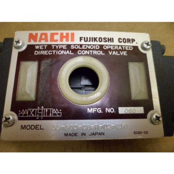 NACHI SS-G03-C6-R-D2-E10 WET TYPE SOLENOID OPERATED DIRECTIONAL HYDRAULIC VALVE #3 image
