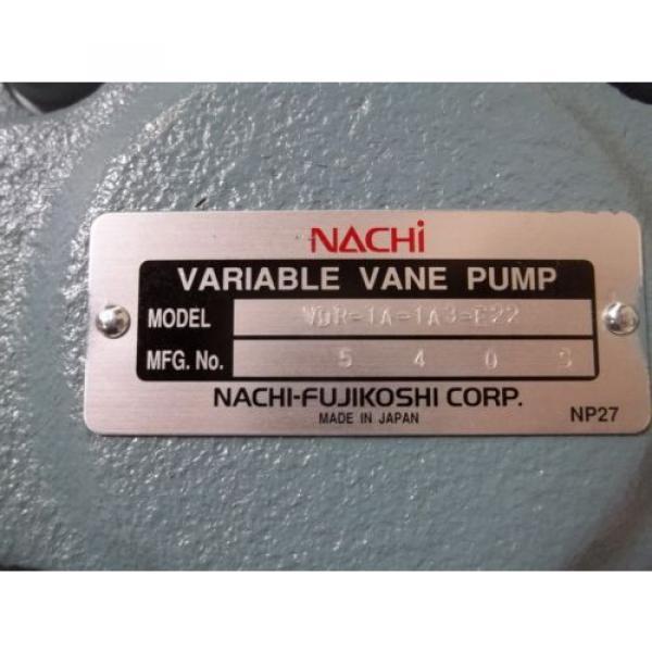 NACHI-FUJIKOSHI CORP VDR-1A-1A3-E22 VARIABLE VANE PUMP Origin IN BOX #5 image