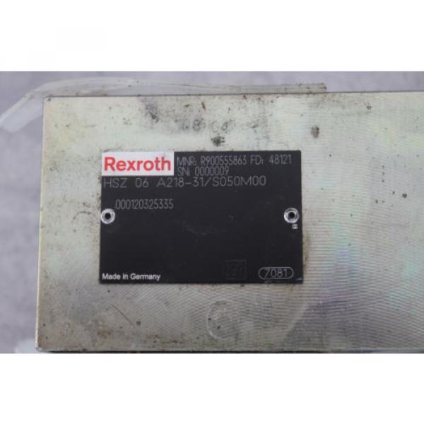 BOSCH REXROTH HSZ06A218-31/S050M00 R900555863 HYDRAULIC VALVE #2 image