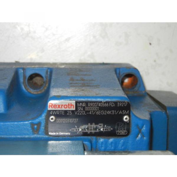REXROTH 4WRTE25V220L-41/6EG24K31/A5M USED VALVE R900740566 FD 39217 #2 image