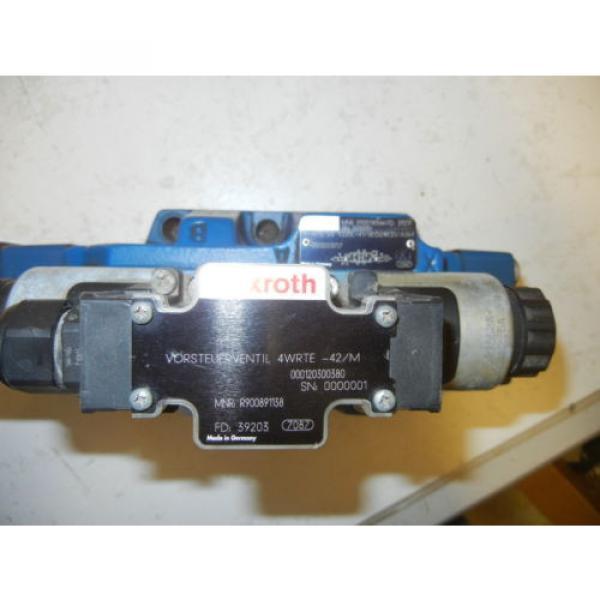 REXROTH 4WRTE25V220L-41/6EG24K31/A5M USED VALVE R900740566 FD 39217 #3 image