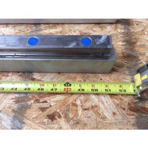REXROTH  2 Rails  Guide Linear bearing CNC Route  model 7873 7210 13Q1 50#034; #5 image