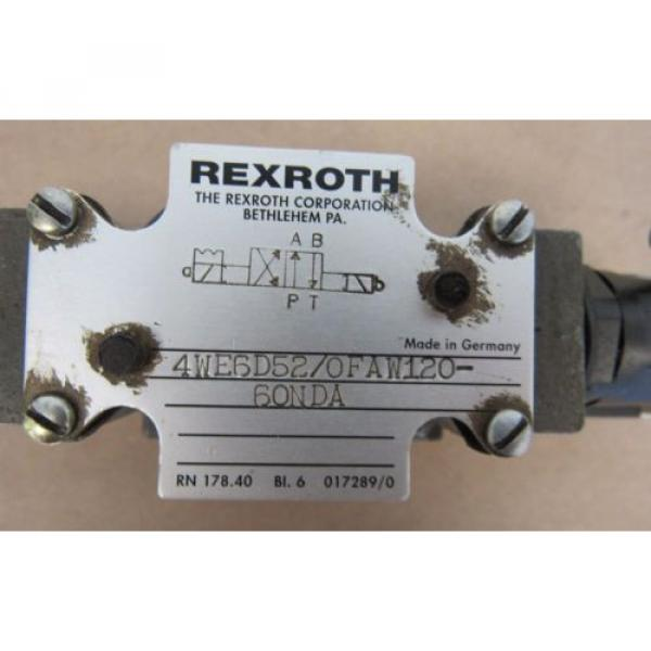 REXROTH VALVE 4WE6D52/0FAW120-60NDA MADE IN GERMANY FREE SHIPPING #3 image