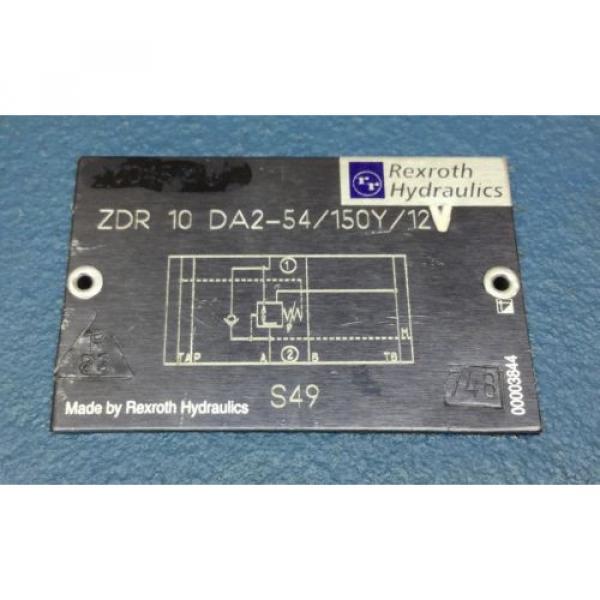 REXROTH R900454116 ZDR10DA2-54/150Y/12V HY-PRESSURE REDUCING VALVE Origin #2 image