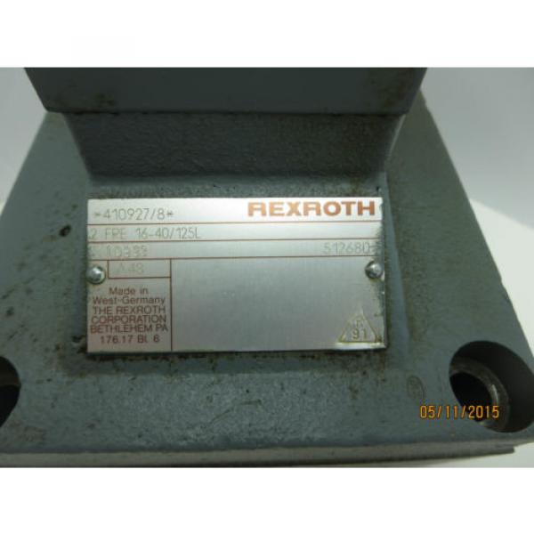 Rexroth Valve 2FRE16-40/125L USED #2 image