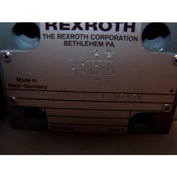 Origin REXROTH 4WE6D51/AW120-60NZ45V HYDRAULIC DIRECTIONAL CONTROL VALVE #2 image