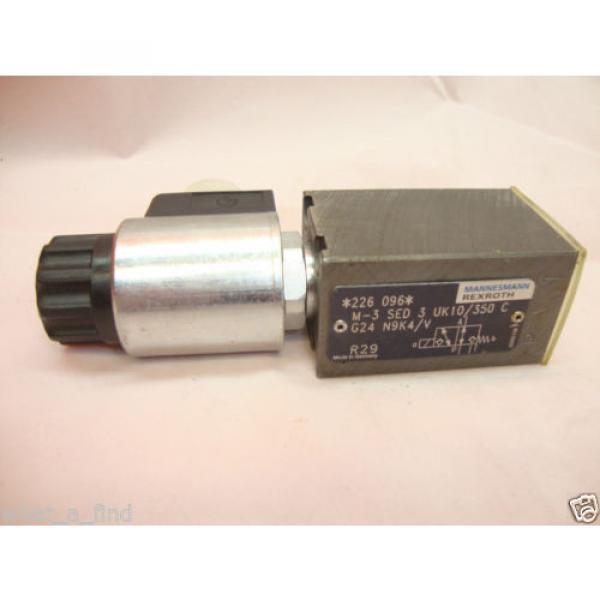 Origin Rexroth M-3 SED 3 UK10/350 C G24 N9K4/V Hydraulic Directional Valve #1 image