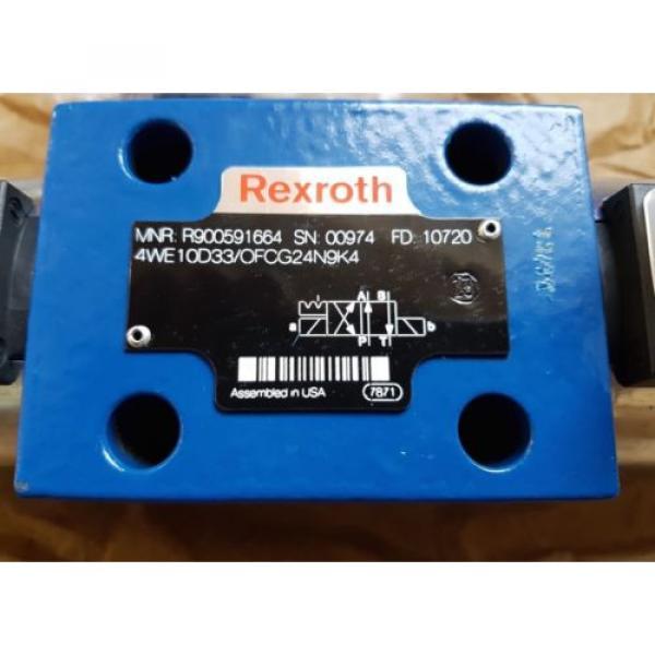 origin Rexroth Hydraulic Directional Control Valve 4WE10D3X/OFCG24N9K4 / R900591664 #2 image