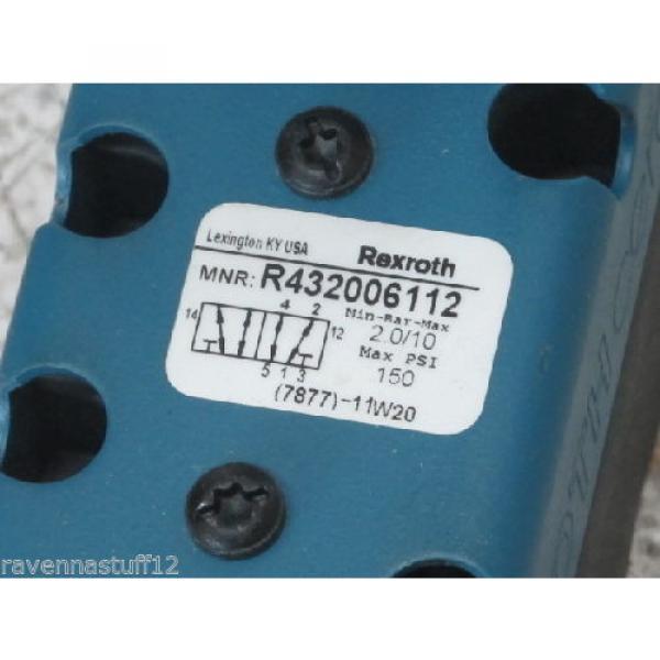 REXROTH R432006112  24VDC 4-PIN VALVE Origin NO BOX #3 image