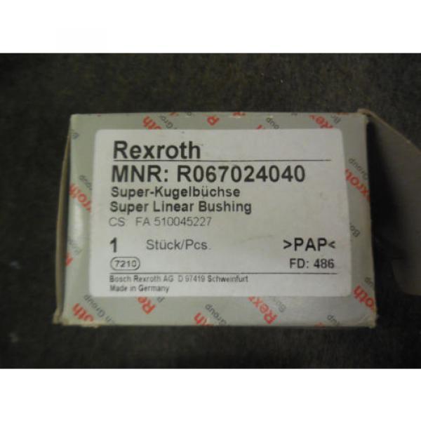 Origin REXROTH SUPER LINEAR BUSHING R067024040 #2 image