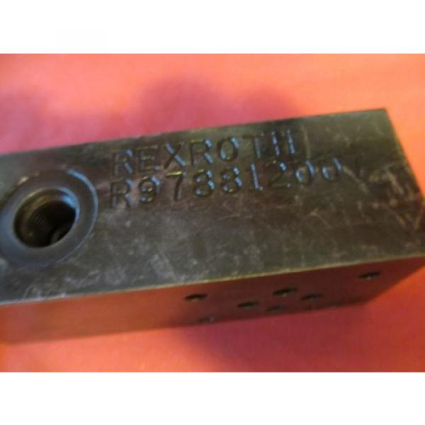 Rexroth R978812007 Hydraulic Valve Assembly #2 image