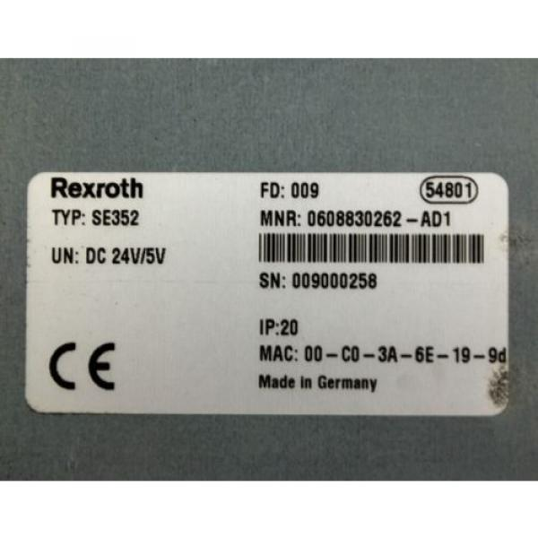 Rexroth Germany Japan SE352 0608830262-AD1 Control Unit #2 image