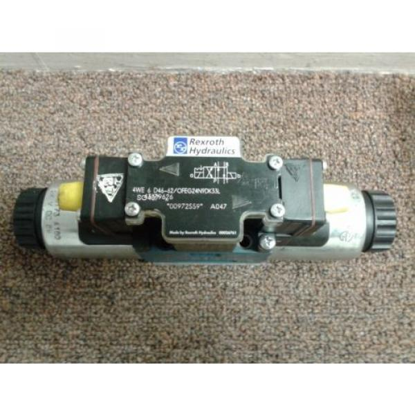REXROTH  HYDRAULICS 4WE 6 D46-62/OFEG24N9DK 33L Directional Valve USED #1 image