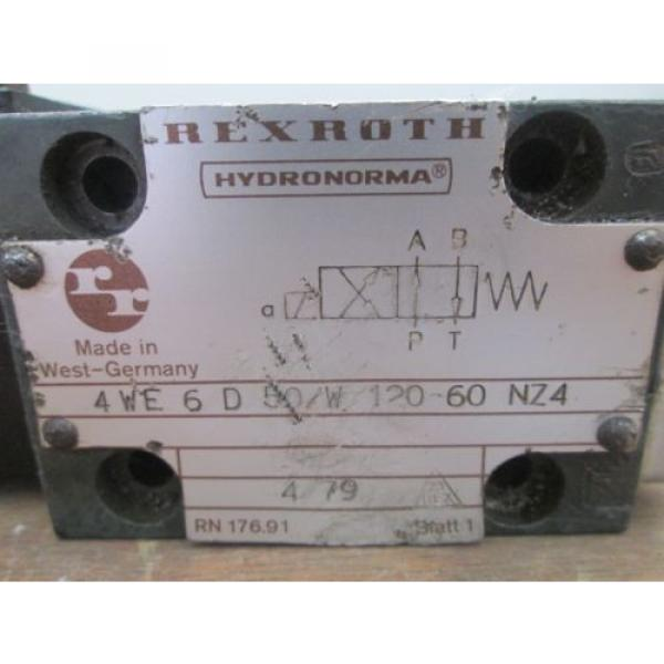 Rexroth Hydronorma Valve 4WE 6 D 50/W 120-60 NZ4 #2 image
