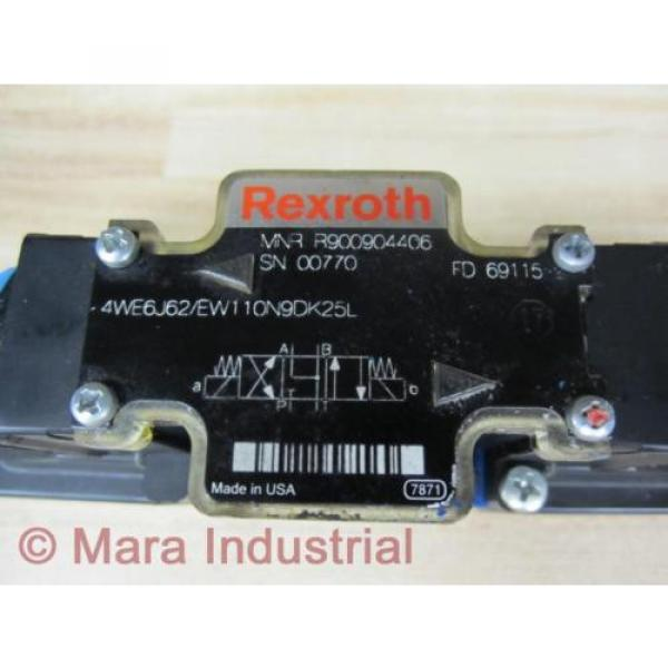 Rexroth Bosch R900904406 Valve 4WE6J62/EW110N9DK25L - origin No Box #2 image