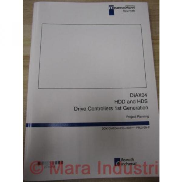 Rexroth China Egypt 274944 Manual DIAX04 HDD And HDS #1 image
