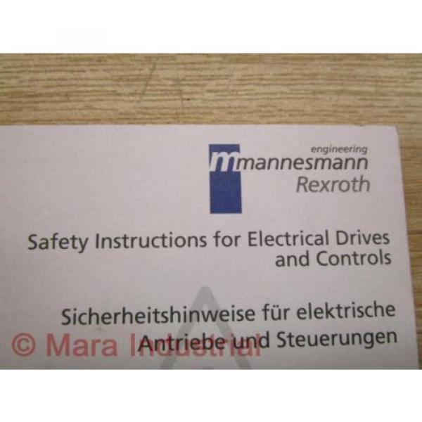 Mannesmann Japan Australia / Rexroth SV01-MS-P Manual 120-1300-B305 #3 image