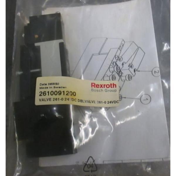 Origin  UNUSED REXROTH BOSCH Group 261-009-120-0 PNEUMATIC Double VALVE 24VDC #1 image
