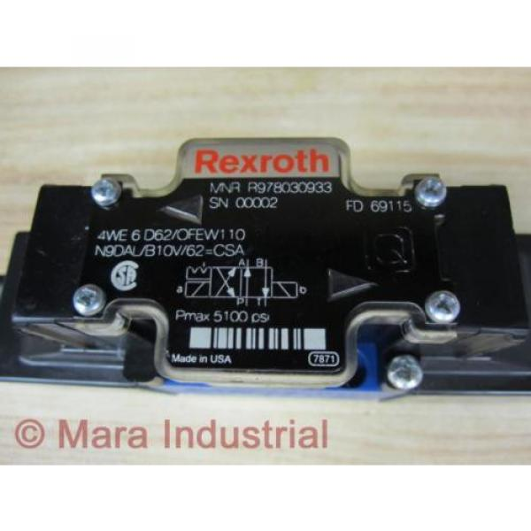 Rexroth Bosch R978030933 Valve 4WE6D62OFEW110N9DALB10V62CSA - origin No Box #2 image
