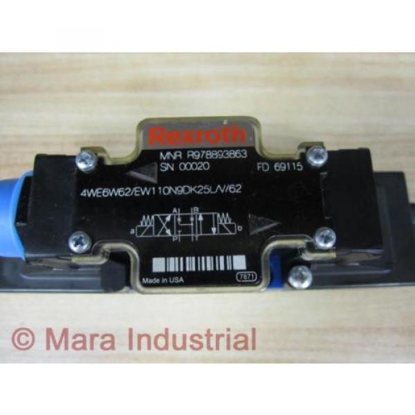 Rexroth Bosch R978893863 Valve 4WE6W62/EW110N9DK25L/V/62 - origin No Box #2 image