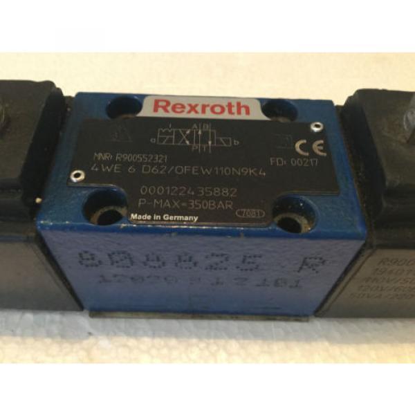 REXROTH R9005523321 CONTROL VALVE 4WE6D62/OFEW110N9K4 #2 image