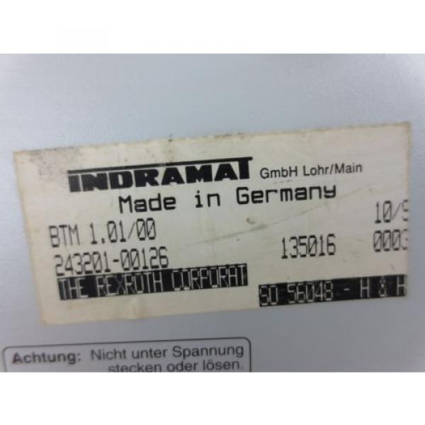 INDRAMAT India Mexico / REXROTH BTM1.01/00 CONTROL PANEL / OPERATOR INTERFACE w/ E-STOP USED #2 image
