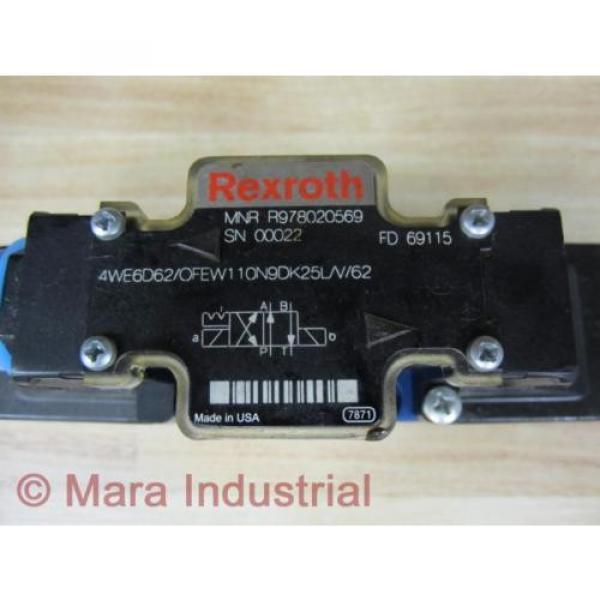 Rexroth Germany France Bosch R978020569 Valve 4WE6D62/OFEW110N9DK25L/V/62 - New No Box #2 image