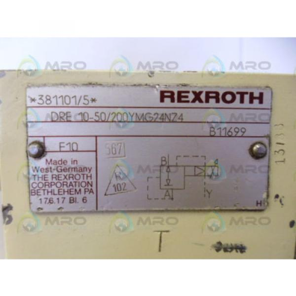 REXROTH DRE10-50/200YMG24NZ4 VALVE USED #4 image