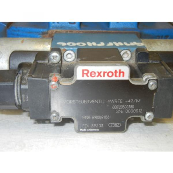 REXROTH 4WRTE16W6200L-41/6EG24K31A5M USED VALVE R901005135 fd 39127 #3 image