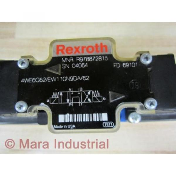 Rexroth Bosch R978872815 Valve 4WE6G62/EW110N9DA/62 - origin No Box #2 image
