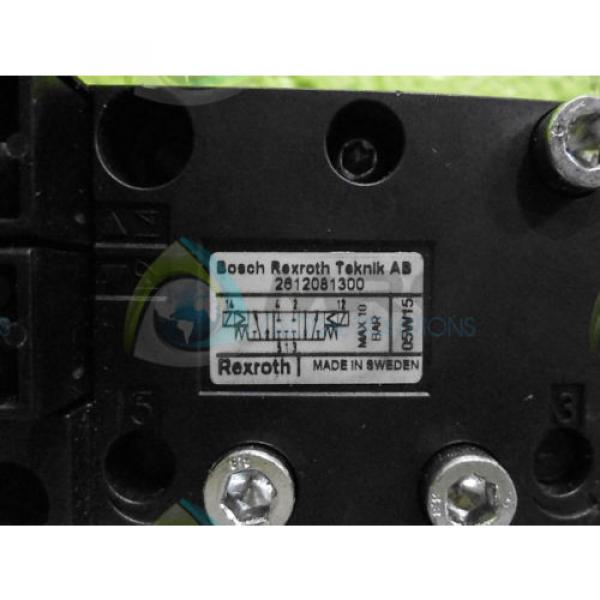 BOSCH REXROTH 2612081300 PNEUMATIC VALVE Origin NO BOX #1 image