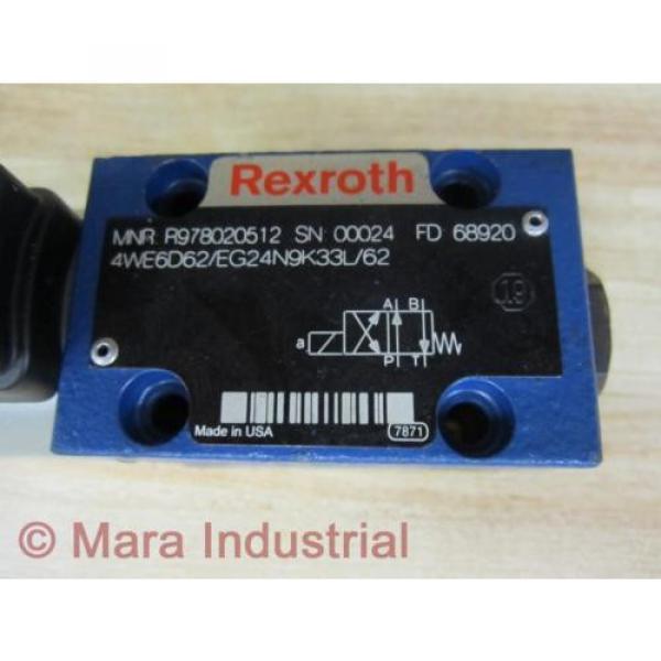 Rexroth Russia Mexico Bosch R978020512 Valve 4WE6D62/EG24N9K33L/62 - New No Box #2 image