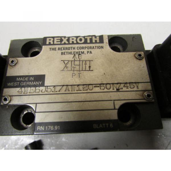 Rexroth 4WE6J51 AW120-60NZ45V Hydraulic Valve #2 image